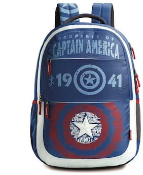 SKYBAGS SB MARVEL (E) PLUS CAP-AM 01 35 L Backpack (Blue)