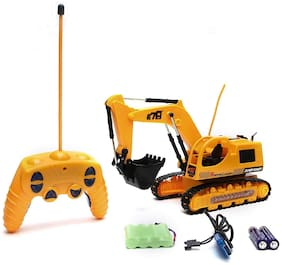 Skylare Truck Super Power 5 Channel Remote Control Crawler JCB Excavator With Flash Light