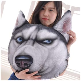 Skylofts 50cm Dog Shape 3D Cushion with Real Dog Look for Sofa & Cars