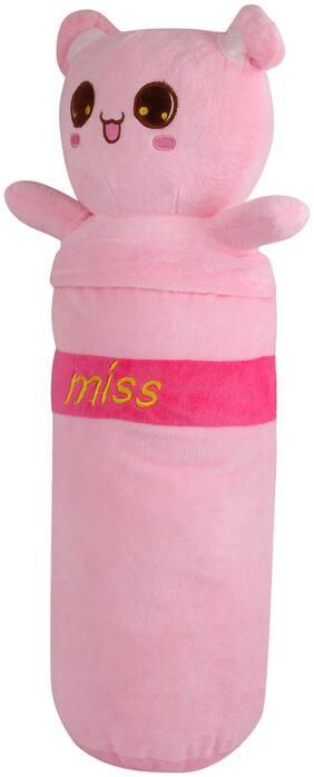 Skylofts 55cm MISS TEDDY BEAR Bolster Pillow Animal Cushions For Living Room & Home D cor for Girls Room