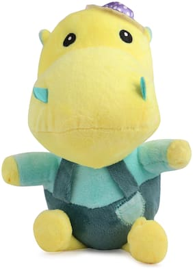 Skylofts Attractive Happy Hippo Soft Toy for Kids  - Green