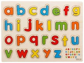 SMALL ALPHABET WOODEN PUZZLE FOR KIDS / CHILDREN.