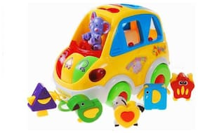 ODDEVEN Smart Bus Shapes, Colours, Animals Light and Music  (Multicolor)