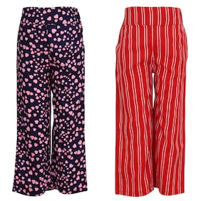 Cutecumber Girl Georgette Trousers - Multi