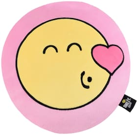 Smiley World Flying Kiss Expression Soft Cushion 12 inch Pink by Ultra