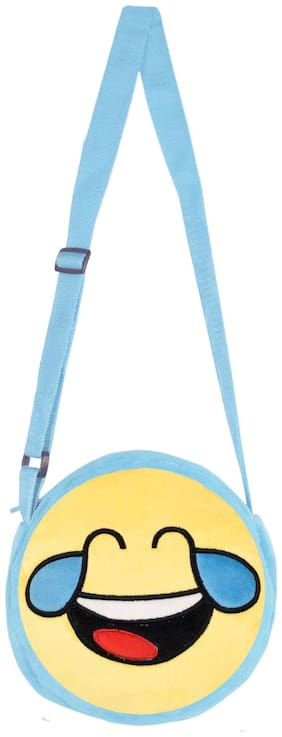 Smiley World Face With Tears of Joy Expression Sling Bag Yellow 8 inch by Ultra