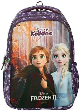 SMILY KIDDOS Frozen 2 Elsa &Anna Junior Backpack Purple