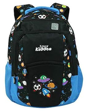 Smily Kiddos Polyester Water Resistant Zipper Pockets Purple Backpack