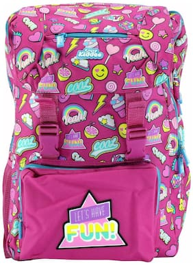 Smily Kiddos  Fancy Backpack bags for kids (Pink)
