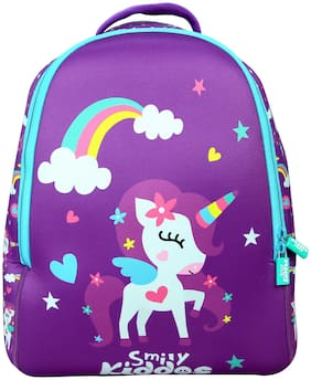 Smily Kiddos  Junior Backpack School bags for kids (Purple)