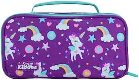 Smily Multipurpose Pencil Case Rainbow Unicorn Theme (Purple)   Kids & School Pencil Case    Cute Pencil Case For Girls   Zipper Pencil Case For Blue  Travel Pencil Box   Boys & Girls Pencil Case