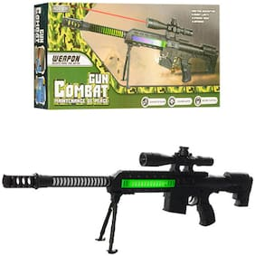 Shanaya Sniper Combat Gun with Lights, Music & Infrared Toy Gun For Kids  (Multicolor)