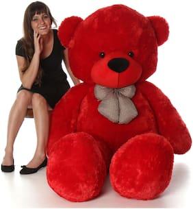 ALISHA TOYS Red Teddy Bear - 90 cm