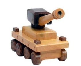Sonpra Antique Wooden Handicraft Tank Toy