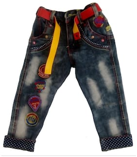 Sonpra Boy Applique Jeans - Black