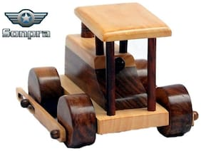 Sonpra Wooden Toy - Antique Handicraft BD Road Roller