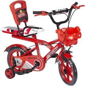 Speed bird cycle industries Boy's and Girl's 12-T Robust Double Seat Biycles Baby Cycle (Red)