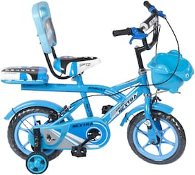 Speed bird cycle industries 12-T Robust Double Seat Baby Bicycles for Boys and Girls (Blue)