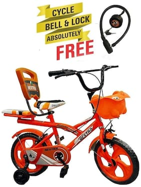 Speed Bird Robust 14-T Baby Cycle - Child Cycle For Boys & Girls - Age Group (3-6 Years) (Color - Orange)