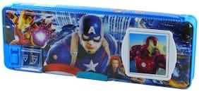 Spero Fancy New Pencil Pen Box with Calculator for Children 40 Gram, Pack of 1  Avengers print