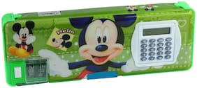 Spero Fancy New Pencil Pen Box with Calculator for Children 40 Gram, Pack of 1