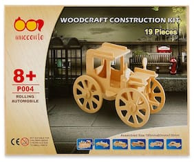 Spice Innocente Beige Wooden Rolling Automobile Construction Kit