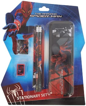 Spiderman Stationery Set;Multi Color