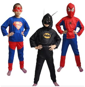 Spiderman,Superman,Batman  Combo Fancydress For Kids