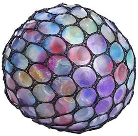 Spongy Ball Toy Grape Stress Relief Squeezing Ball Squash Ball (1Pc) Multi Color