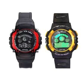 Sports Digital Watch for Kids - Two Pcs (Colour May Vary)