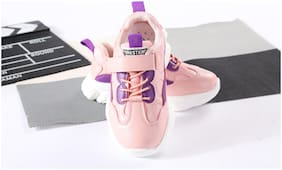 Enso Pink Sport Shoes For Girls