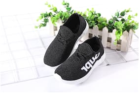 Enso Black Boys Sport shoes