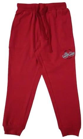 KiddoPanti Boy Cotton Track pants - Red