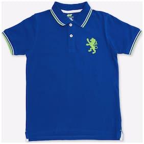 Spunk Boy Cotton Solid T-shirt - Blue
