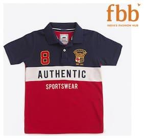 Spunk Boy Cotton Solid T-shirt - Red