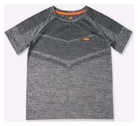 Spunk Boy Polyester Printed T-shirt - Grey