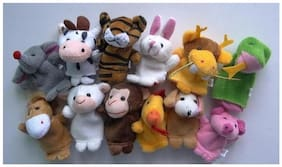 Sri Toys 12 Animals Finger Puppets