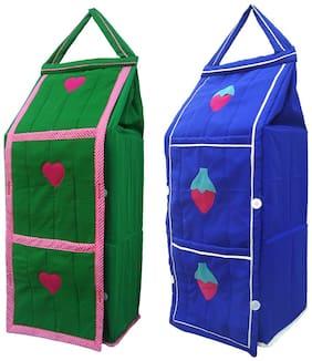 SRIM Hanging Foldable Kids Almirah Collapsible Wardrobe Organizer