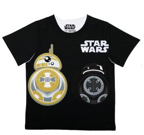Star Wars Boy Polyester Solid T-shirt - Black