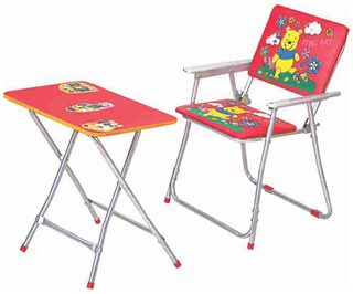 Buy Steel Art Study Table Chiar Big Online At Low Prices In India