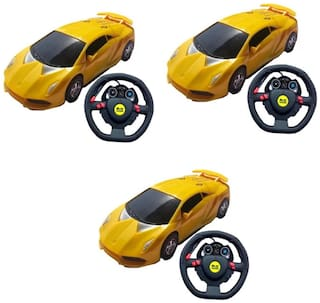 Steering Fast Turn Remote Control Car For Kids Pack Of 3
