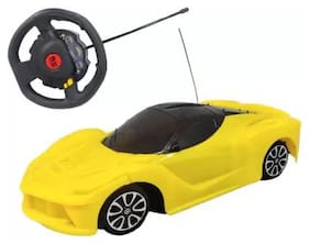 Steering Remote Control Car For Kids (Yellow)