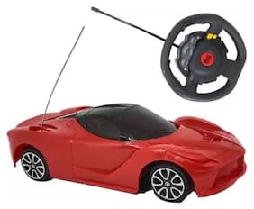 Kanchan Toys Steering Superzz Remote Control Toy For Kids (Red)