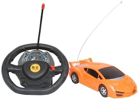 Steering Wheel Controlled Remote Car For Kids