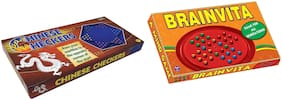 Sterling 2 in 1 Combo Pack of Board Game Chinese Checkers and Brainvita