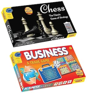 Sterling 2 in 1 Combo Pack of Board Game Chess and Business