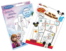 Sterling My Cute Pack Frozen Glitter & Disney Mickey Mouse Bumpy Art & Craft Pack