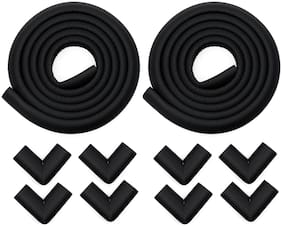 Store2508 Child Safety Strip Cushion with Strong Fibreglass Tape (Black)