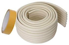 Store2508  Wide Flat Design Child Safety Strip WithStrong Fibreglass Tape for Baby Safety Child Proofing. (Ivory)