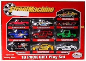 Street Machine 10 Metal cars Gift Play set - Pro Engine Series